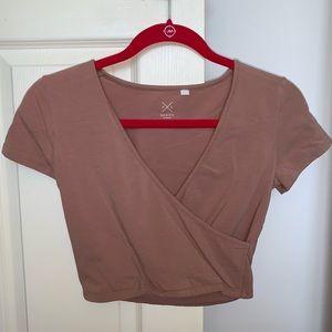 Pacsun PS Basics Wrap Short Sleeve Top